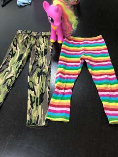 2 pcs Girls Leggings