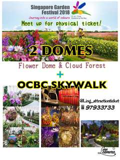GARDEN BY THE BAY (2 DOMES) + OCBC SKYWALK- PHYSICAL TICKET