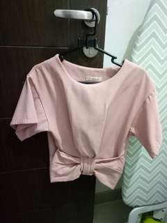 Pink Bow Top