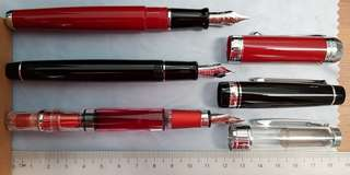 【fixed price】fountain pen - twsbi 580 m,  pilot 912 sfm, aurora talentum m