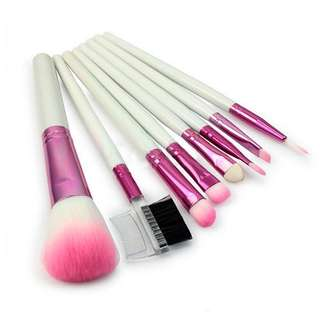 Pink Brush Make Up 8 Set with Pouch
