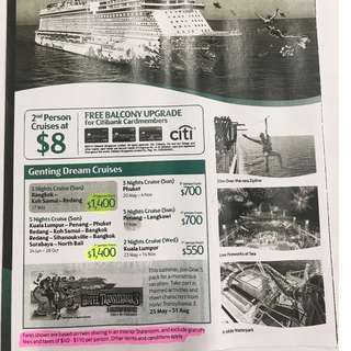 DREAM CRUISES VOUCHER