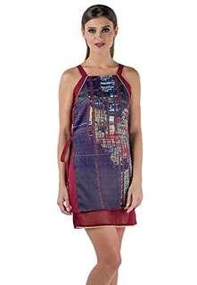 Plains & Prints Maroon Dress