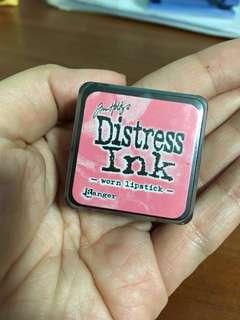 Tim Holtz mini distress ink cube - Worn Lipstick