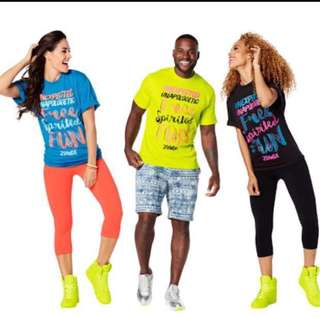 Authentic Zumba T-shirt Unisex One Size Fits All