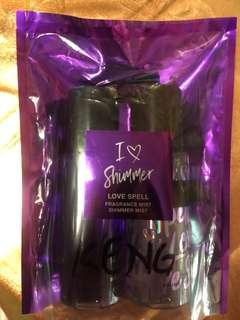 Victoria Secret Love Spell Fragrance mist and Shimmer mist