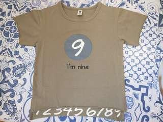🚚 數字9T恤
