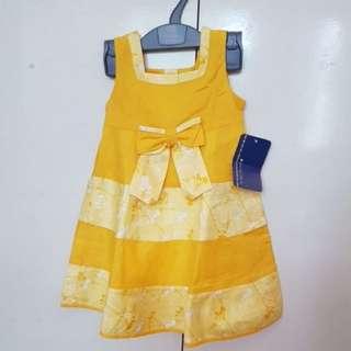 Periwinkle Yellow Dress ootd sunday dress 24m 2t