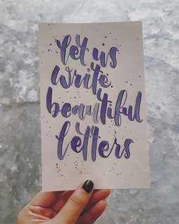 Calligraphy/Lettering cards