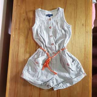 Periwinkle Romper sleevless top shorts very cute casual ootd sunday dress 24m 2t