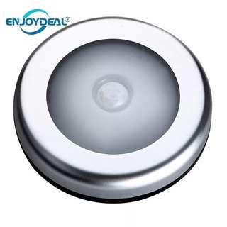 1Pc 6LED PIR Body Motion Sensor Activated Wall Light Night Light Induction Lamp Closet Corridor Cabinet led Sensor Light battery