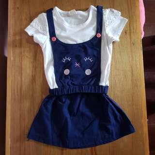 Korean Fashion Japan made cotton dress for ootd kitty