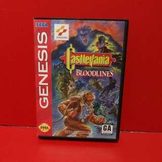 Castlevania Bloodlines Sega Genesis