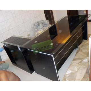 EXECUTIVE TABLES GLASS TOP--KHOMI