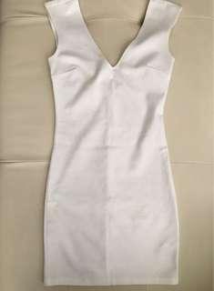 Forever 21 off-white bondage dress