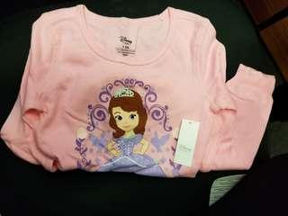 Disney Sofia the first 長袖top size :5/6 歲