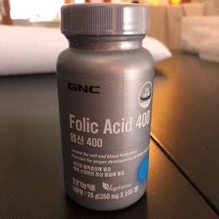 GNC 葉酸 folic acid 400 大肚必備🤰🏻