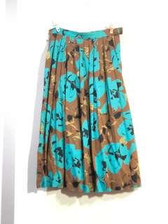 古著出清-媽媽的碎花裙 vintage floral skirt(w26)
