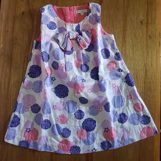 Periwinkle Dress 24m 2t 2y Polka dots white colorful