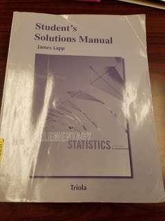 Statistics Student Solutions Manuel Triola