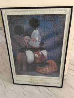 Mickey Mouse framed jigsaw, 51x75cm