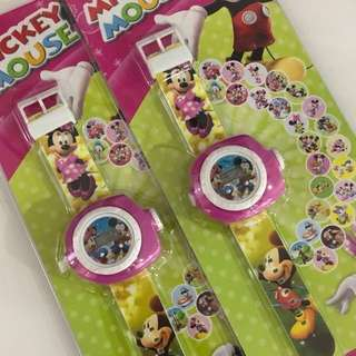 Mickey and Minnie watch with projector images- goodies bag