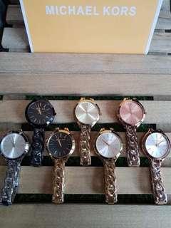 MK Slim Runway Twist Chain Watch