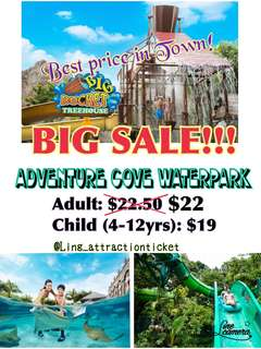 ADVENTURE COVE WATERPARK!! BIG SALE!