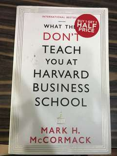 What they don't teach you at Harvard law school