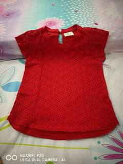 Girl red shirt