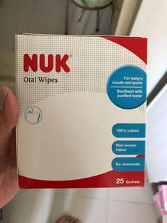 NUK Oral Wipes 100 pieces