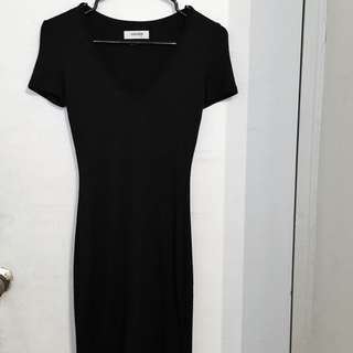 Aritzia Black T-Shirt Dress