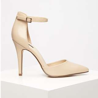 F21 Nude Pointy Toe Heels