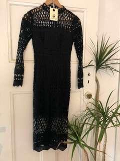 🌿 Mika and Gala Prelude black Dress Sz 6 - won't once 💕