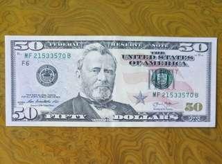 美元$50