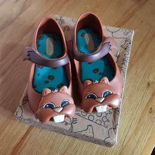 SOLD XX Mini Melissa Chipmunk Animal Lovers s7 size 7 not Joyfolie Zaxy Jelly Grendha Old Navy Nike
