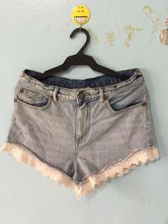 Acid Wash High Waist Short