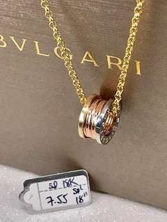Branded pure gold necklace