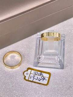 Branded pure gold wedding ring