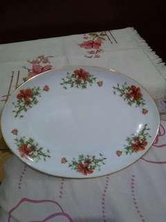 Nampan Lodor Keramik Porselen Jadul Antik Sango China