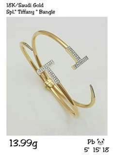 Branded pure gold bangle