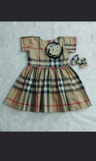CCGC's Burberry Dress Plaid with pearl design pearls and clip