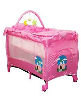 Pre Order 6in1 Portable crib ( Big size Good quality).  Pwede folding  , folding size : 80x25x25cm Php 4200 2color  green  pink  size : 125x65x78cm 0-5years old kaya #sywg
