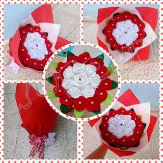 Hand Bucket/Bucket Bunga/Bunga Tangan/Bunga Flanel