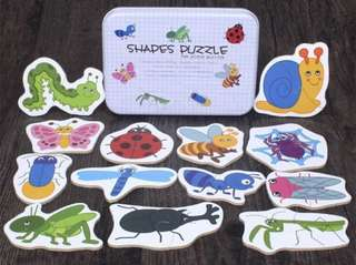 2 pieces puzzle - Insect BNIB Free NM