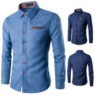 Denim Men's Long Sleeve Shirt