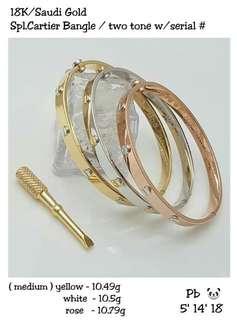 Branded pure gold bangle (Med)