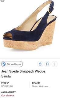 Stuart Weitzman Suede Wedges (Size 7)