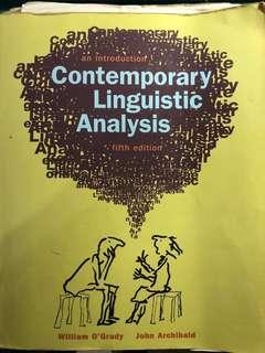 *小安的店*外文系用書 Contemporary Linguistic Analysis 語言學分析
