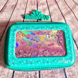 Smiggle Shimmy Shake Case Pencil / Tempat pensil Glitter ORIGINAL